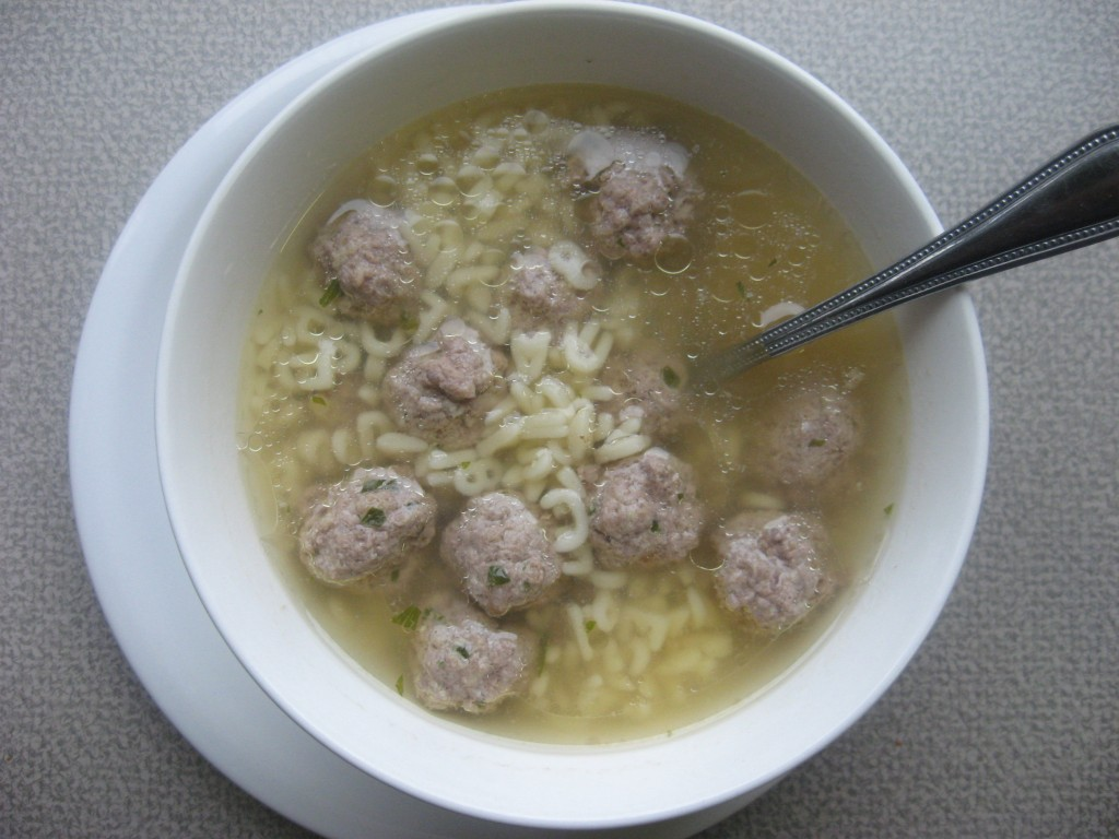 Mini Meatball & Alphabet Soup